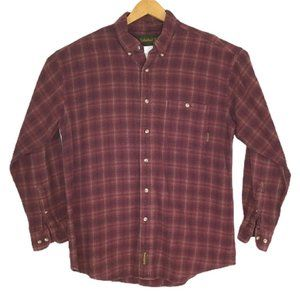 Timberland Flannel Long Sleeves Maroon Plaid